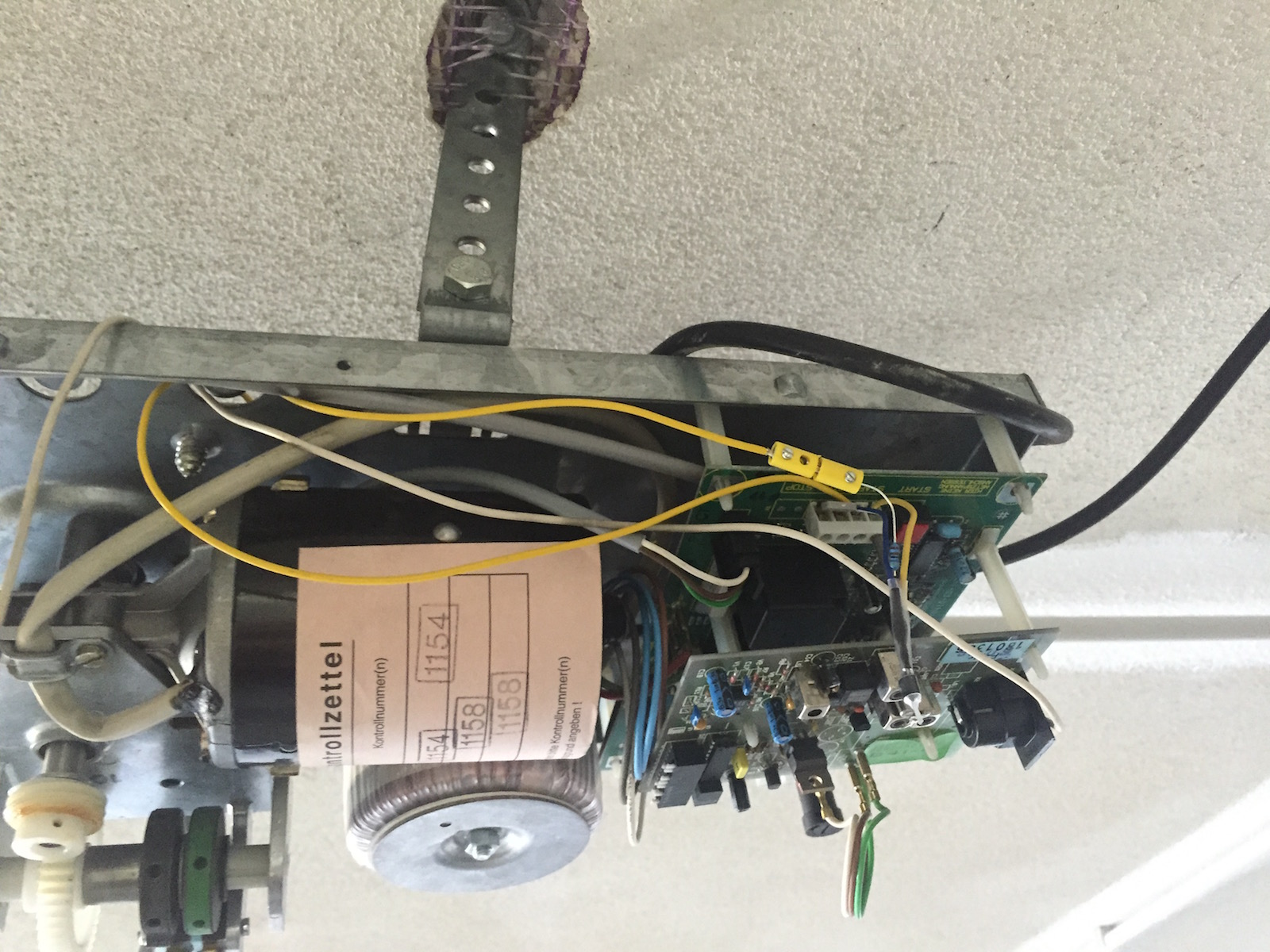 Raspberry Pi Garage Door Controller Glumb Opener Wiring Diagram Further Electrical Rpi We Mounted The Wires